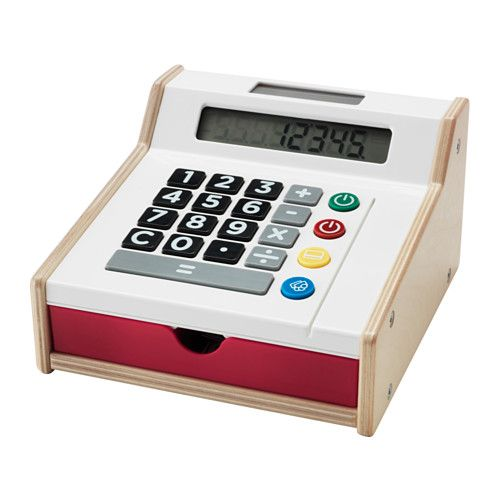IKEA - DUKTIG, Toy cash register, , Encourages role play which helps children to develop social skills by imitating grown-ups and inventing their own roles.