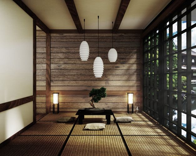 Room Japan Style Mock Up Interior Design 3d Rendering In 2020 Zen Style Zen Design Interior Design
