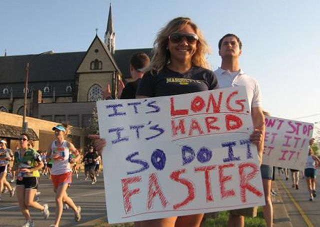 Curiosities: Funny Marathon Signs