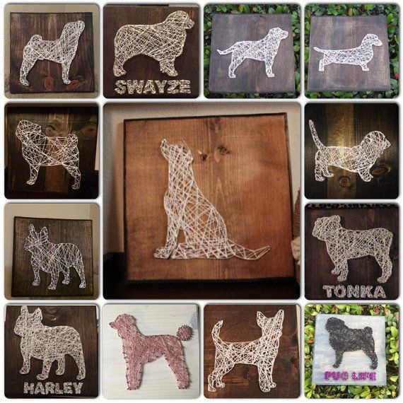 MADE TO ORDER  Dog String Art Sign  by StringsbySamantha on Etsy ANY BREED AVAILABLE - LOVE THIS!