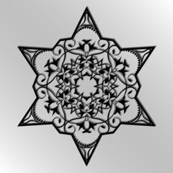 """Подрезная карта. Лазер вырезать панель звезда вектор. Силуэт вырез с узором """"звезда"""". Филигрань звезда шаблон для резки бумаги. шестиугольная звезда. черный"""