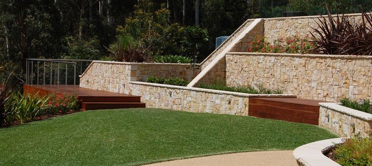 Our colour palette with current retaining wall