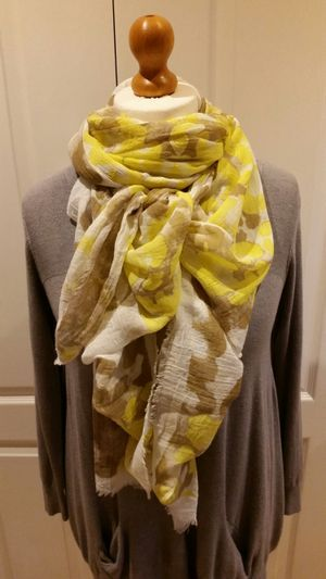 Yellow & Tan Animal Print