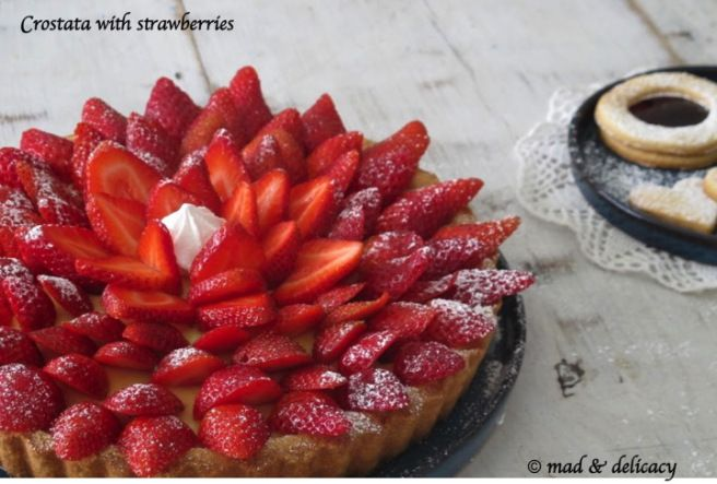 crostata with strawberries by mad & delicacy