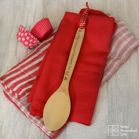 Be My Spooning Partner Wooden Spoon.  Buy a fun and unusual Valentine's day gift with this cheeky wooden spoon.  Why stick to Prosecco and chocs when you can buy something fun and cheeky. Any name can be added to this wooden spoon.