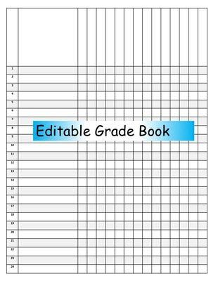 Editable Gradebook from Brainy Bain on TeachersNotebook.com (1 page)