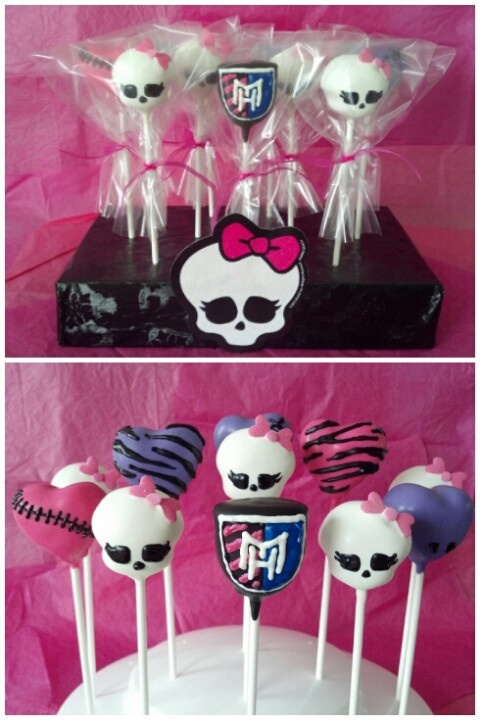 Monster High cake pops by Let Them Eat Cake Pops ~ www.LetsEatCakePops.com