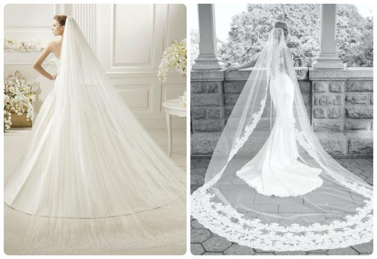 Risultati immagini per veli lunghi da sposa