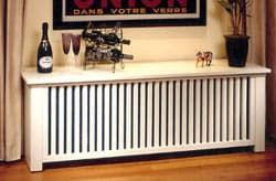 Tipped off by our mom, we hereby post a good resource for your NYC radiator woes. Started in 1990 by Tom and Peg Kennedy, who found wood radiator covers WAY too expensive, The Wooden Radiator Company offers three general styles (traditional, shaker and prairie) at affordable prices. They have also recently added bookcases and baseboard covers to match. While modernistas may not find these designs immediately pleasing, The Wooden Radiator Company can paint, stain or tone down their designs to…
