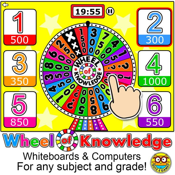 Review and test prep will always be fun with this engaging Wheel of Knowledge Quiz Show game for interactive whiteboards and computers. Create multiple choice questions for any subject and play this game every time you want to have fun while reviewing concepts. By Pink Cat Studio