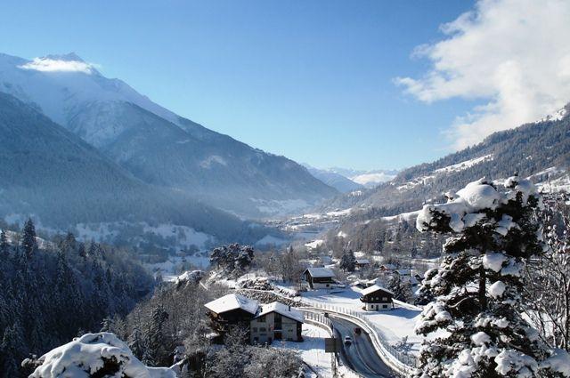 Fiesch Wallis Zwitserland (uitzicht Winter Chalet Lara)