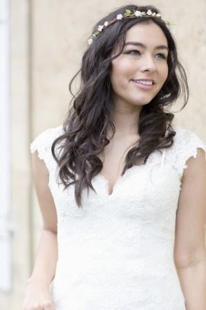 Louise Alvarez lace wedding gown, www.louisealvarez.com.au Photography Lauren Michelle Weddings | Wedding: Michelle and James, Normandy, France