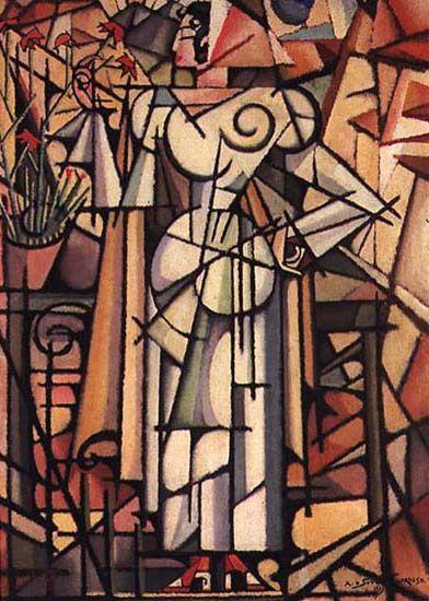 Girl of Carnations — Amadeo de Souza-Cardoso (1913)
