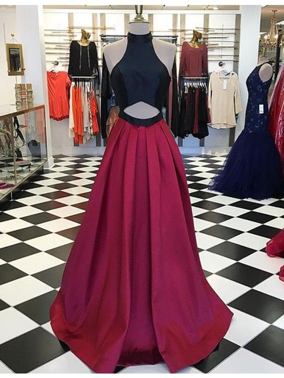 Prom Dresses,Evening Dress,Party Dresses,Sexy Halter Sleeveless Floor-Length