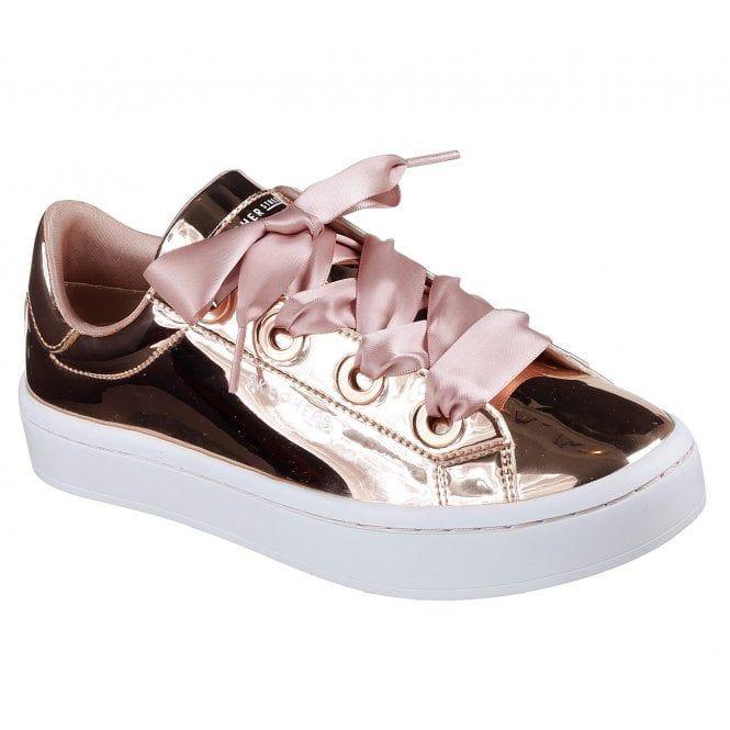 Skechers Hi Lites Liquid Bling RoseGold Women's Tainers Eshoes