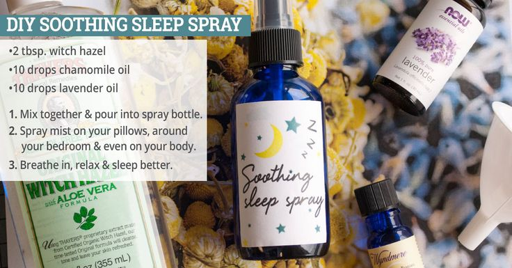 DIY Soothing Sleep Spray - make this relaxing and aromatic spray for your bedroom. Makes a great gift!