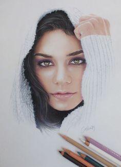 Vanessa Hudgens Drawing by Live4ArtInLA.deviantart.com on @deviantART