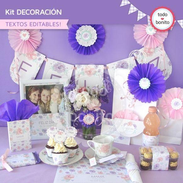 Día de la madre: kit decoración