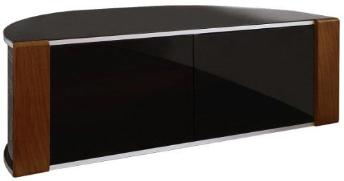 "S&C ZIN552685/BKI Remote Friendly Beam Thru Glass Door Walnut / High Gloss Piano Black with Brushed Aluminium Trim 40""-52"" LCD/Plasma/LED Cabinet TV Stand MDA Designs http://www.amazon.co.uk/dp/B005D23N4K/ref=cm_sw_r_pi_dp_au-Evb0S7993R"