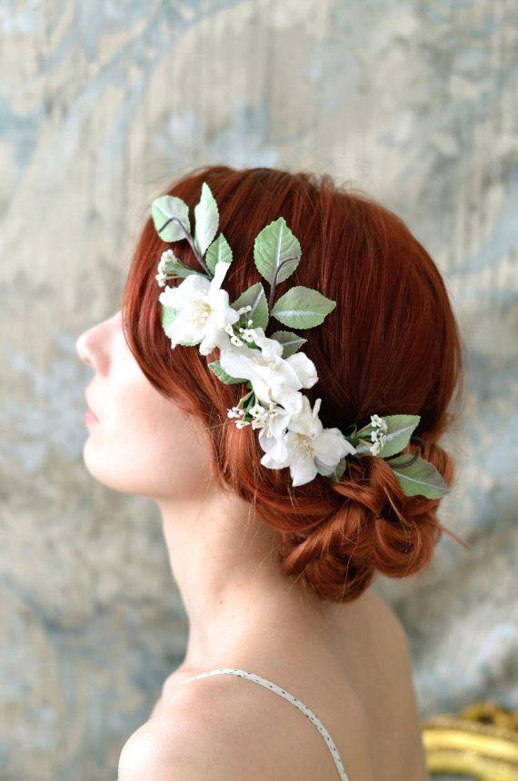 Bridal hair accessory wedding headpiece vintage by gardensofwhimsy