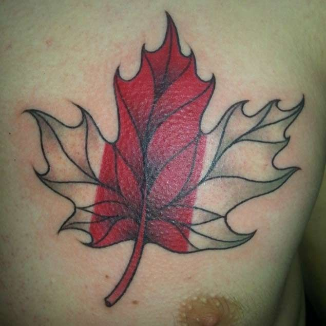 canadian-flag-tattoo