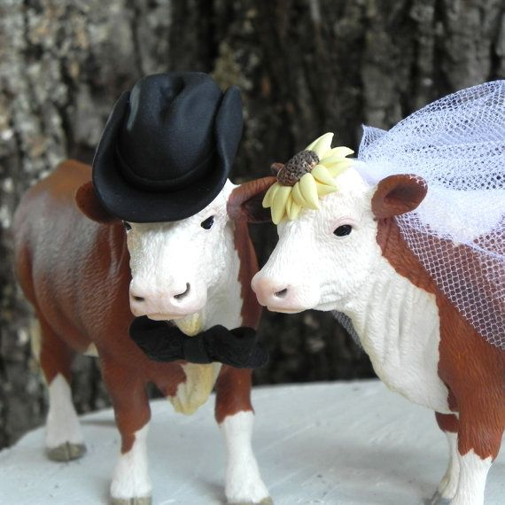 Hereford Cow and Bull Country Wedding Cake Topper [ BookingEntertainment.com ] #wedding #events #entertainment