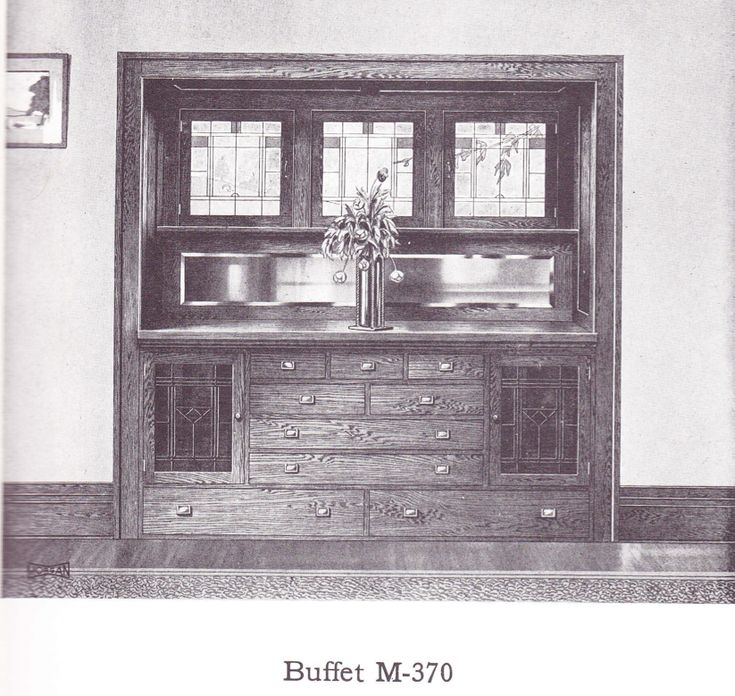 Buffet With Leaded Glass Published In Millwork Catalog In1921 By The Morgan Woodwork Organization And Called