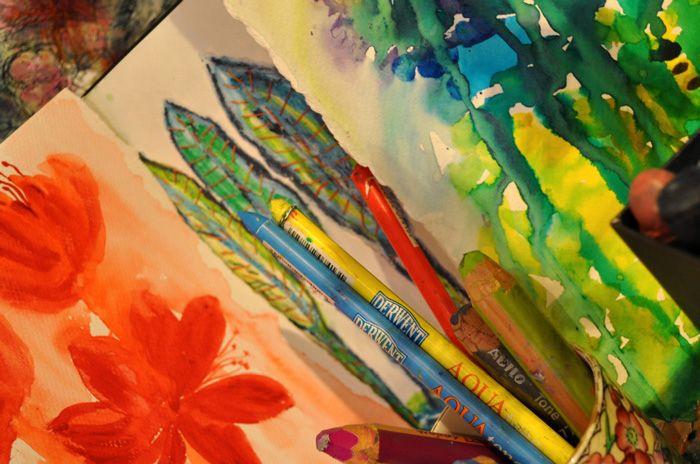 In the Artist's Garden Studio - sketchbook