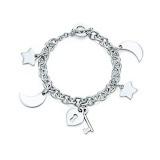 Tiffany Moon and Star Charm Bracelet TS158