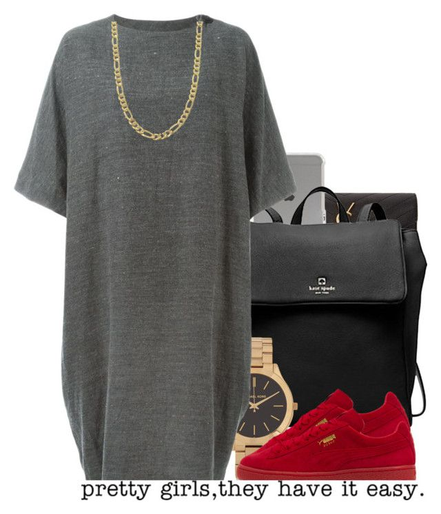 """Untitled #384"" by nanuluv ❤ liked on Polyvore featuring Yves Saint Laurent, Incase, Kate Spade, Michael Kors, Puma, Arts & Science and Fremada"