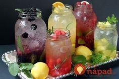 5 receptov na prírodné limonády ochutené ovocím a bylinkami