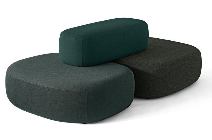Sofá modular / moderno / de cuero / de tela - Ø by Kilo Design - + HALLE