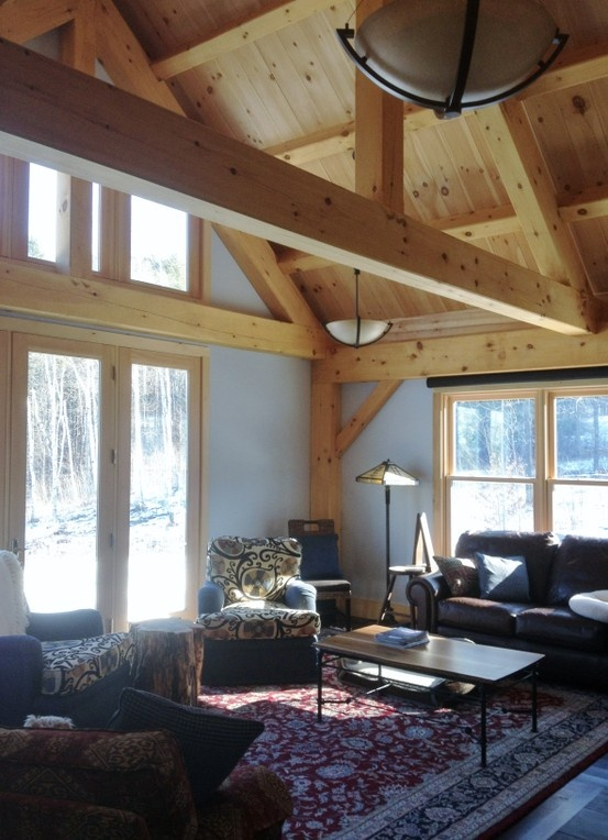 7 best timber frame addition to a log home in vermont for Log cabin sunroom additions