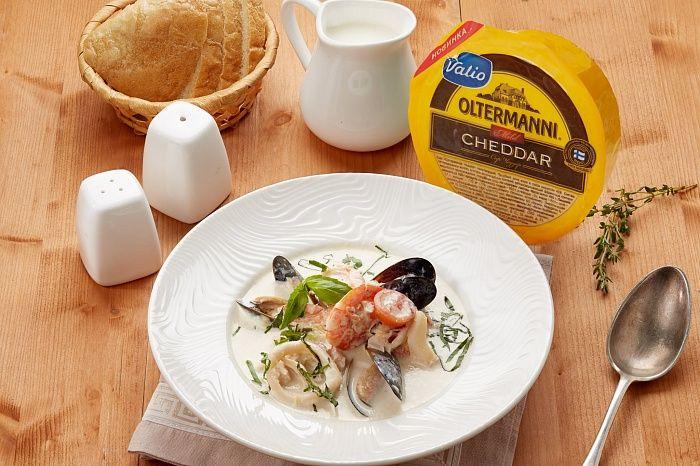 Сырный суп чеддер сморепродуктами - пошаговый рецепт приготовления с фото