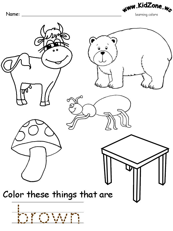 color's worksheets Preschool colors, Preschool