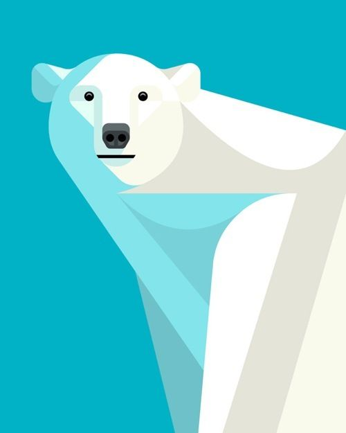 Polar Bear by Lumadessa (via omgposters)  The drawing is friendly as no sharp edges can be found within the picture. Even so, the polar bear is really scary =S  This would mean that try to sense reality and stay away from animals.