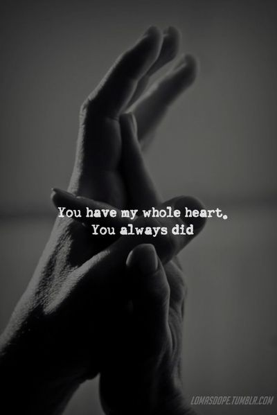 Always.. and I want your initials tattooed on my wedding ring finger.. I want to always look at my hand and anybody else and know that I belong too and my heart is true always and forever to you!!
