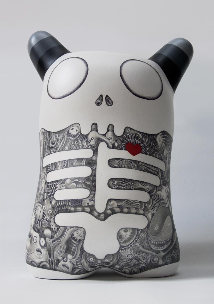 Podmork Ku 01 TotenKopf  Cm 42x23x31 -  preview from Deformography Hackatao Solo Show #Art #Arte