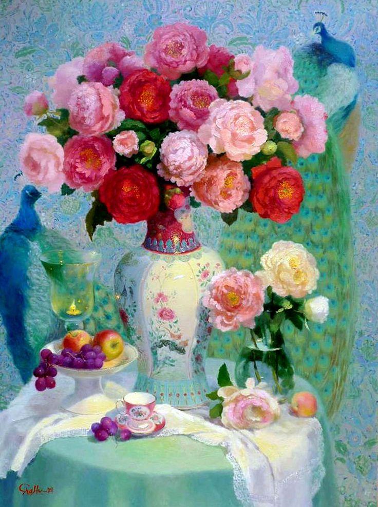 Цветочно-фруктовые натюрморты. Художница из Китая Ammy Yang. Часть 2. Обсуждение на LiveInternet - Российский Сервис Онлайн-Дневников