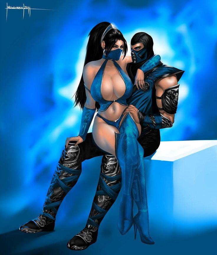 Sub-Zero and Kitana by LavitzDragon.deviantart.com on @deviantART