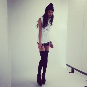 This is from one of Missguided's shoot days, but I love the whole outfit it's stunning!! #MGWinterWardrobe