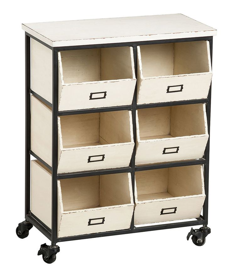 Take a look at this Six-Drawer Rolling Wood Storage Cabinet today!