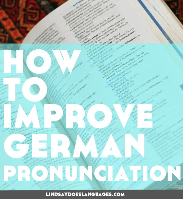 12 Top Tips-How to Improve German Pronunciation. Looking for some tips to improve German pronunciation? Right here, my friend. Check this post for some ideas to get your speaking perfekt Deutsch. Lindsay Does Languages blog