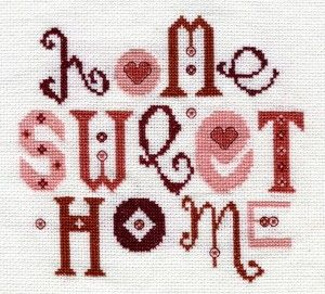 Home Sweet Home, counted cross stitch PDF file pattern