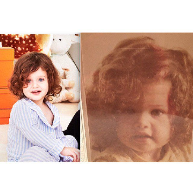 Pin for Later: Stephen Curry, Molly Sims, and More Shared Sweet Photos of Their Littles This Week!  Rachel Zoe posted this amazing throwback of her and Skyler at the same age. Twinsies!