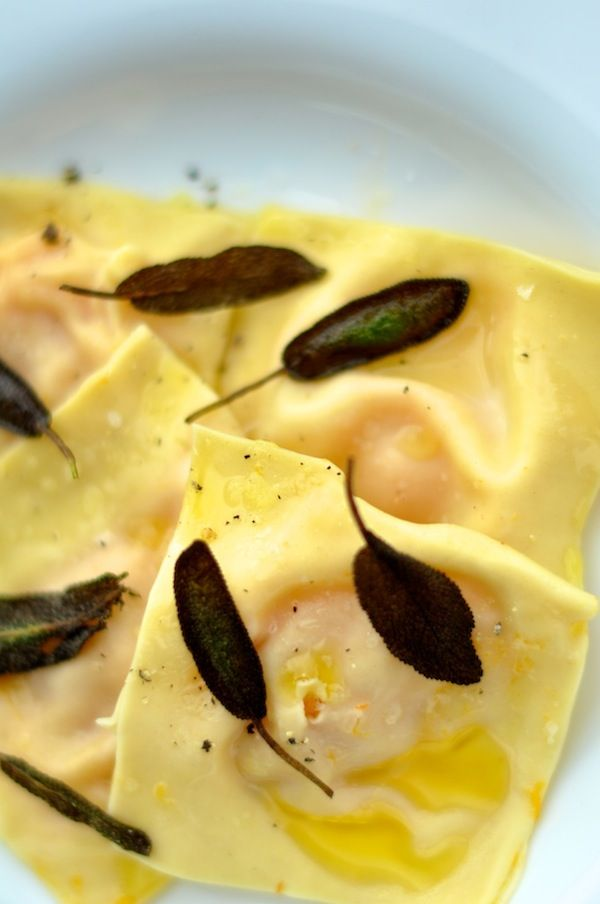 Butternut Squash Ravioli with Sage Brown Butter by camillestyles #Ravioli #Butternut_Squash #Sage #Brown_Butter