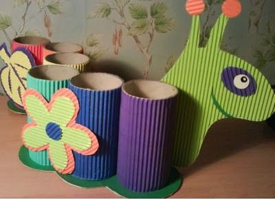 13 Manualidades para hacer con niños reciclando tubos de papel higiénico ~ Mimundomanual