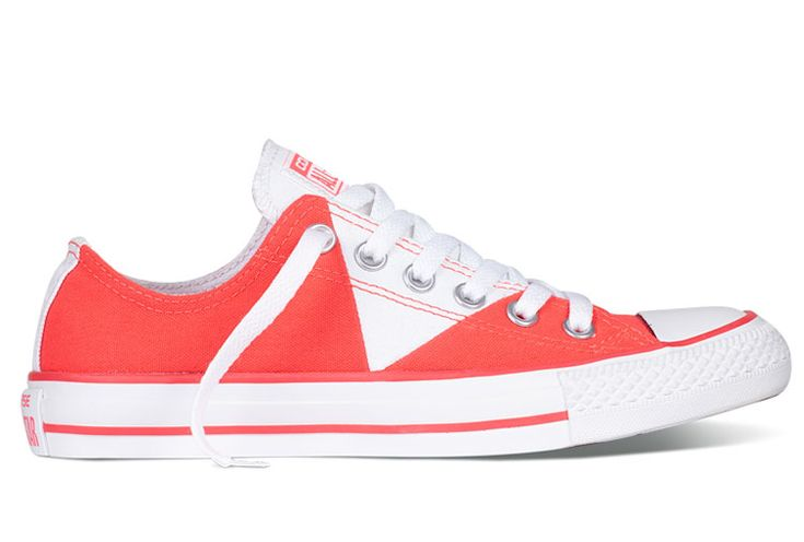Converse Chuck Taylor Multi Pancel Summer Ice Cream Red White All Star Low Tops Canvas Women Sneakers