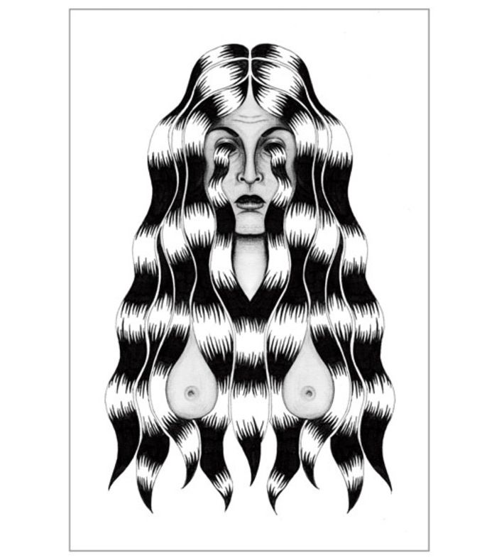 Untitled Signe Beck  2013 You can buy this piece here: www.artrebels.com #artrebels #blackandwhite #art