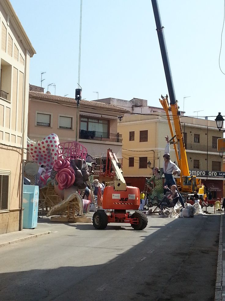 Denia 2014, Fallas construction